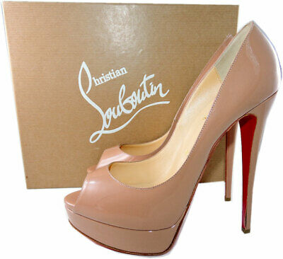 chaussure louboutin beige femme