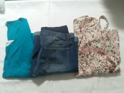 Ladies Size S/M 10 Maternity Denim Shorts And Tops