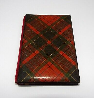 Lovely Rare Antique Victorian 1880 Tartan Ware Note Book Aide Memoire Caledonian