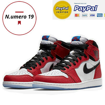 "NIKE Air Jordan 1 Retro High OG ""Origin Story"" SPIDER-MAN"