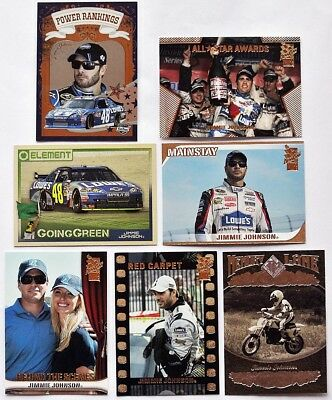 7 verschiedene NASCAR Trading Cards - JIMMIE JOHNSON - 2009-2012