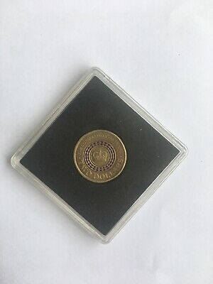2013 Queens Coronation $2 Purple Stripe Coin