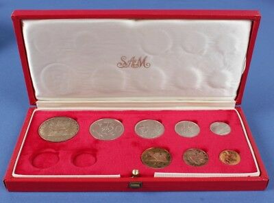SOUTH AFRICA: 1970 Proof set ½c to 1 Rand in long proof set case (no gold)