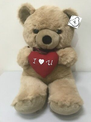 """METRO SOFT TOY CUDDLY TEDDY BEAR RED HEART """"I LOVE YOU"""" 27"""" Large Valentines Day"""