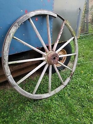 Antique, large wooden wheel, cart/wagon wheel, wooden 55 inches diameter