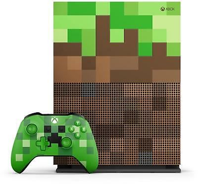 Xbox One S 1TB Console Minecraft Limited Edition Grade A-