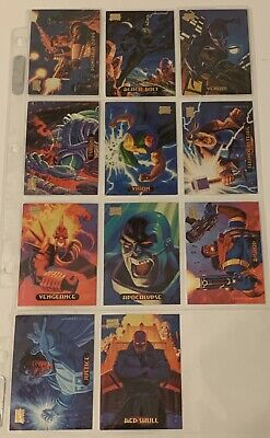 1994 Fleer Marvel Masterpieces Hildebrandt Brothers 11 Cards + 1 Gold Foil Sig