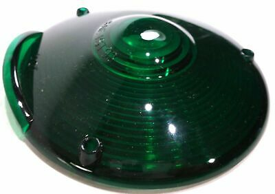 "Lens replacement 4"" round green plastic 3 screws Peterbilt Kenworth Freightliner"