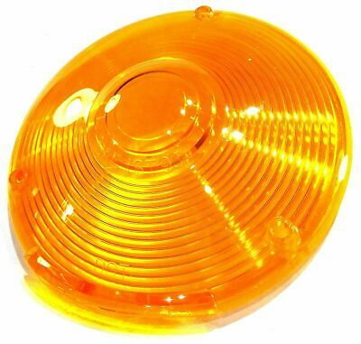 "Lens 4"" amber plstic 3 hole for Peterbilt Kenworth Freightliner combination lite"