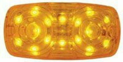 LED light 16 amber diodes amber lensTiger eye cat eye double bubble Kenworth
