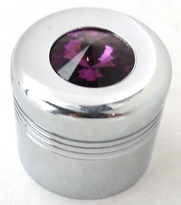 glove box knob cover purple jewel chrome plastic for Peterbilt Kenworth