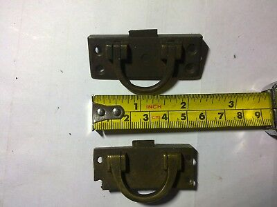 spring latches, brass, small, some damage, antique