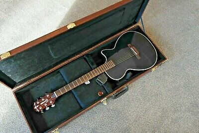 Thin electro guitar (Gorgeous Thing) + Case. Crafter CT-120/BK