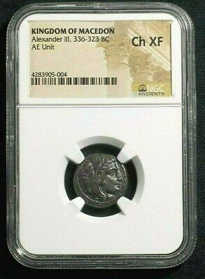 Greek AE Unit of Alexander III The Great  336-323 BC Lifetime issue NGC Ch XF