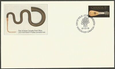 Canada Fdc 1981 Antique Instruments 17C Stamp-Mandora #878 Vancouver. Can Post