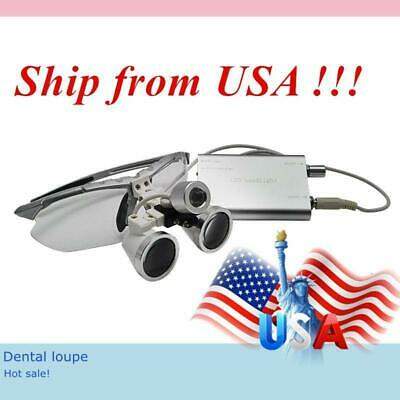 Authentic LED Silver Dental Loupe (w/Headlight)