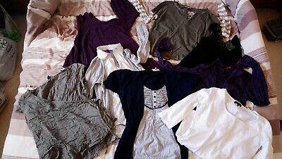 Maternity bundle tops jumpers shirts. Size 10 8 Small