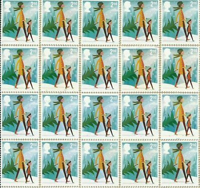 24 2nd Class Christmas Unfranked GB Stamps (Peelable)