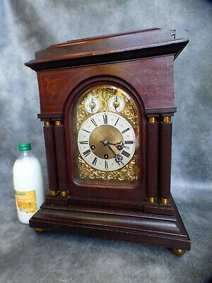 A GOOD CLEAN JUNGHANS WESTMINSTER CHIME / HOUR GONG STRIKE BRACKET CLOCK c1910