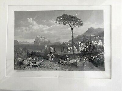 ISCHIA    STANFIELD - BRANDARD  from  picture in the Royal Collection