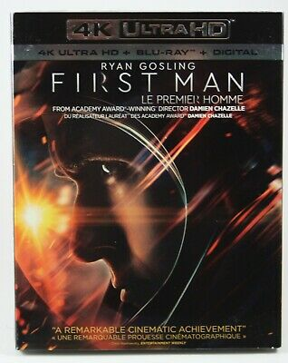 First Man  [4K Ultra HD + Blu-ray + Digital] BRAND NEW Slipcover Ryan Gosling