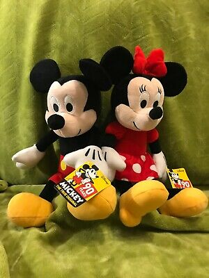 ed248863716 90th Anniversary Disney Mickey and Minnie Mouse plush toy set NWT 13 inch