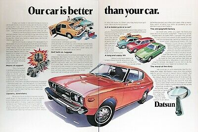 1975 DATSUN 710 Genuine Vintage Ad ~ Our Car Is Better