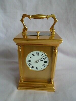 French 8 Day Repeater Carriage Clock W/masked Dial  In Gwo + Key Cleaned & Oiled