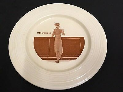 "Rare Crown Ducal Cocktail Plate Art Deco ""Old Fashion"""