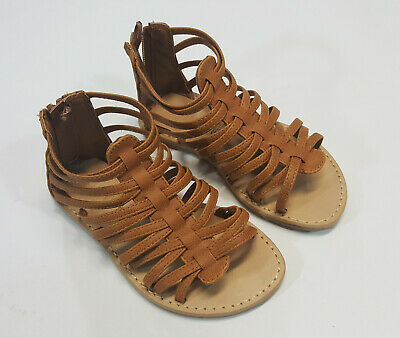 3e2303af3a0 NEW OLD NAVY Toddler Girls Size 8 Tan Beige Gladiator Sandals Shoes ...
