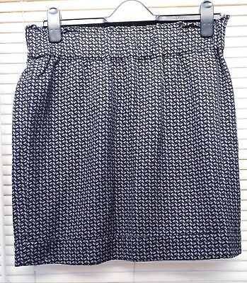 GAP Maternity black and lilac lined shirt skirt - Size M