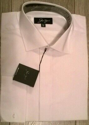 """Jean Yves TALL FIT  White smart shirt Wedding formal evening wear New  15"""""""
