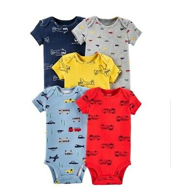 e518a51515ab CARTER S BABY BOY 2 Pack Rompers Rocket Ship Space 12 Month 12M NWT ...