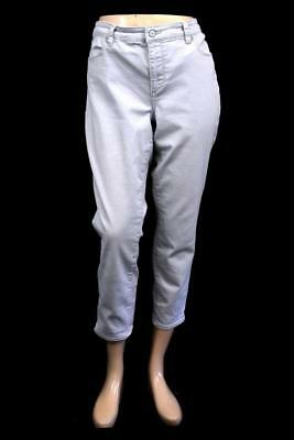 3a6bb16014d womens light gray TALBOTS flawless five pocket slim ankle jeans L 12 PETITE  12P