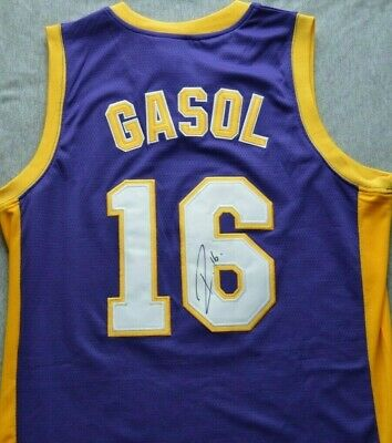 8077f2e06 Pau Gasol Autographed Signed Jersey COA Los Angeles Lakers LA Spain Spurs  Bulls