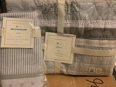 Pottery Barn Kids Elliott Toddler Quilt And Reese Crib Skirt