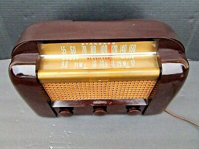 Rca Victor 66X1 Bakelite Art Deco Tube Radio Standard Am And Short Wave