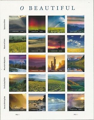 1 Sheet #5298 Forever O Beautiful. Bin $15.00. Free Delivery.