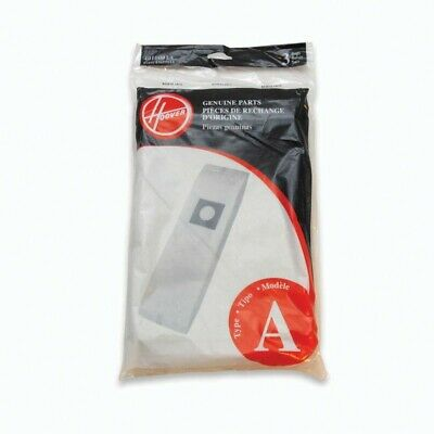 New Hoover Genuine Type A 3 Pack Vacuum Cleaner Bag Part #43655010, 4010001A