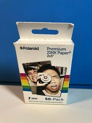 "Polaroid 2"" x 3ʺ Premium ZINK Photo Paper 50 Sheet Pack New & Sealed"