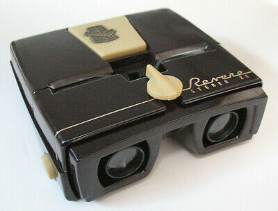 Revere Stereo 22 Lighted 3D Viewer for 35mm Realist Format Slides, Nice & Shiny