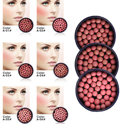 Cosmetic Ball Blusher Blush Blusher Powder Rouge Pearl Face Makeup Silky Effect