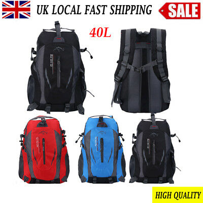 40L Waterproof Outdoor Backpack Climbing Camping Travel Rucksack Bag Sports