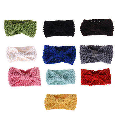 Cute Kids Girl Baby Toddler Crochet Hair Band Bow Headband Accessories Winter Jc