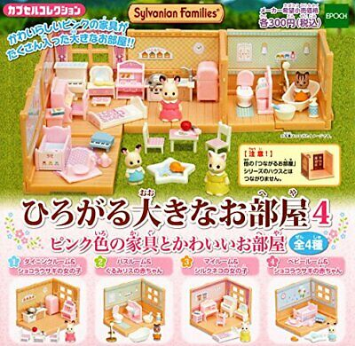Sylvanian Families spread large rooms 4 pink color furniture and cute rooms all
