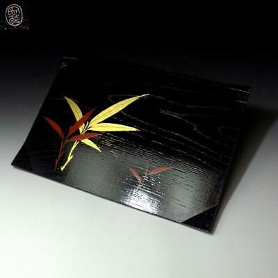 HC1: Vintage Japanese Lacquered Wooden Tea Plate by Great Artisan, Heian Zohiko​