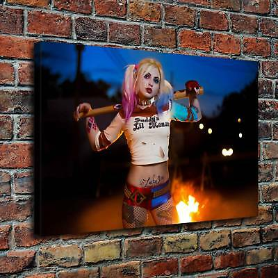 Harley Quinn HD Canvas Print Painting Home Decor room Wall Art Picture 100142