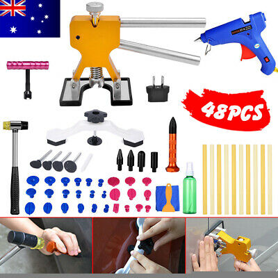 48 PDR Dent Paintless Lifter Puller Hail Removal Car Board Repair Tools Glue Gun