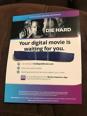 Die Hard Digital Code Only From The 4K UHD Blu Ray
