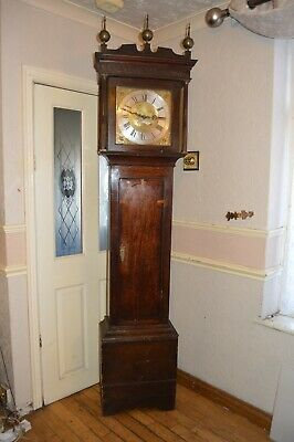 A VERY GOOD 30 HOUR LONG CASED CLOCK BY JOSEPH JOHNSON,DUDLEY c1770 *SERVICED*